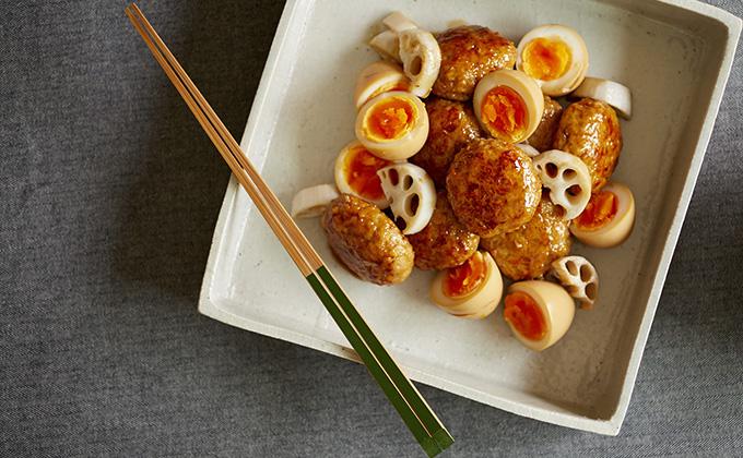 鶏つくねと煮卵