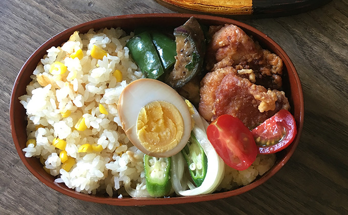 【2017/7/25】角田真秀さんのお昼ごはんのお弁当
