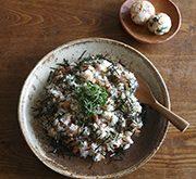 塩麹鮭の混ぜご飯