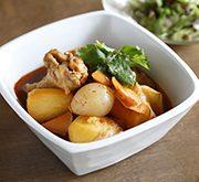鶏肉とジャガイモのピリ辛煮