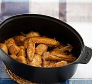 手羽中と里芋の味噌煮 豆板醤風味
