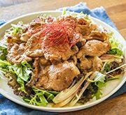豚のショウガ焼きのっけサラダ