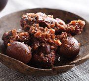鶏肉の赤ワインとバルサミコ煮込み