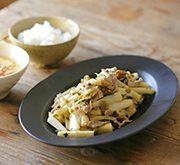 長芋と高菜の漬物のオイスター炒め