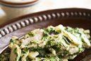 鶏むね肉と生海苔のクリームさっと煮