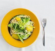 春キャベツとアスパラとジャガイモのスパゲティ