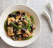 豆腐ステーキのアサリあんかけ
