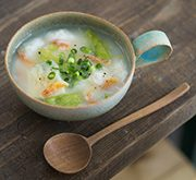タケノコと大和芋と桜えびのふわとろスープ