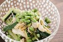枝豆とキュウリと蒸し鶏の中華和え