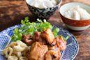 中華風鶏の照り焼き 花椒風味 里芋ごはん添え
