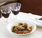 ごろごろ野菜入り豚肉と豆の煮込み