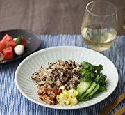 ブラックオリーブと挽肉の炒飯