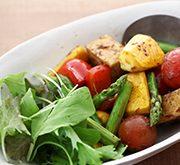 厚揚げと夏野菜のバルサミコマリネ