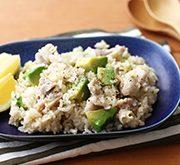 鶏とアボカドの炊き込みご飯