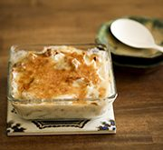 鶏肉と里芋の味噌グラタン