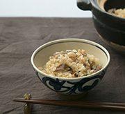 干しエビと干し椎茸の中華風炊き込みご飯