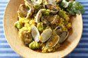 空豆とアサリのカレーご飯