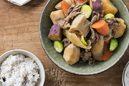 いろいろ根菜の韓国風肉ジャガ