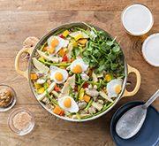 野菜たっぷり、ガパオ風味の炊き込みご飯