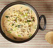 豆もやしと青菜の担担風スープ
