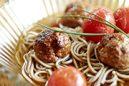 肉団子とトマトの冷やし味噌スープ蕎麦