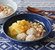 とろとろ白菜と鶏団子のスープ