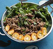 牛肉とペパーミントのサラダ