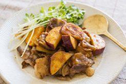 豚肉とサツマイモの甘辛味噌炒め