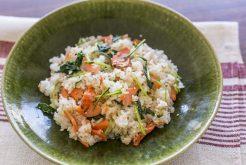 鮭とルッコラの混ぜご飯