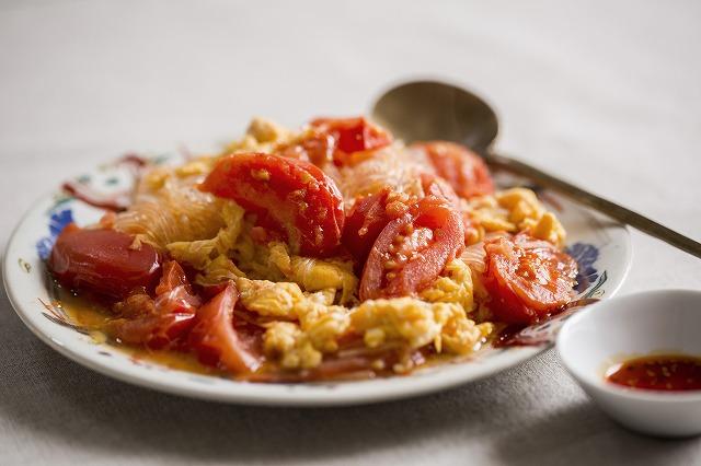 卵とトマト春雨