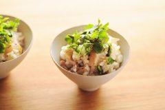 長芋とセリの炊き込みごはん