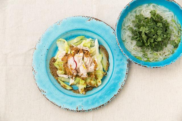 鶏むね肉の春キャベツ温サラダ