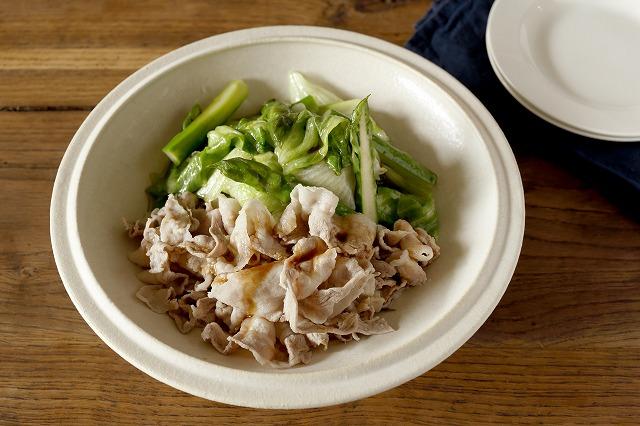 豚肉と茹で野菜のオイスターソースがけ