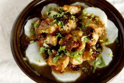 豚肉と長芋の豆鼓蒸し