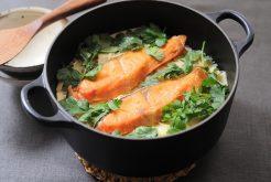 エスニック鮭タケノコご飯