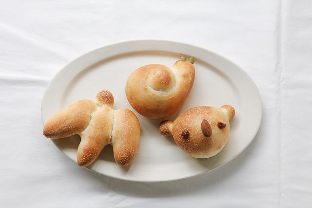 焼きたてのパン(コアラ、カタツムリ、バナナ)3種類