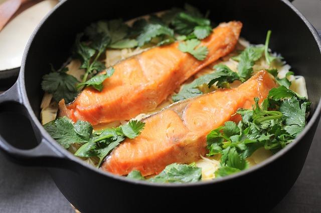 エスニック鮭とタケノコご飯
