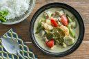 鶏肉とナスのグリーンカレー