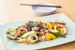 イカとキュウリの豆豉炒め
