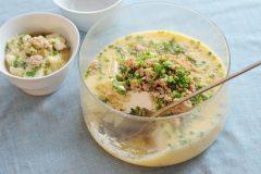 豆腐と鶏挽肉の大鉢茶碗蒸し