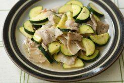 豚肉とズッキーニの塩とろみ炒め