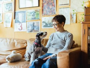 石川さんと犬