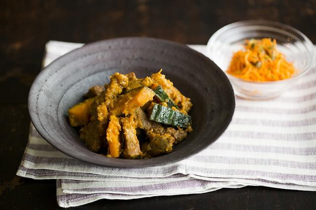 豚肉とカボチャのカレークローブ煮