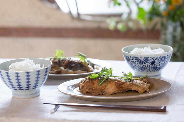 鮭のホイル蒸し 味噌マヨ風味