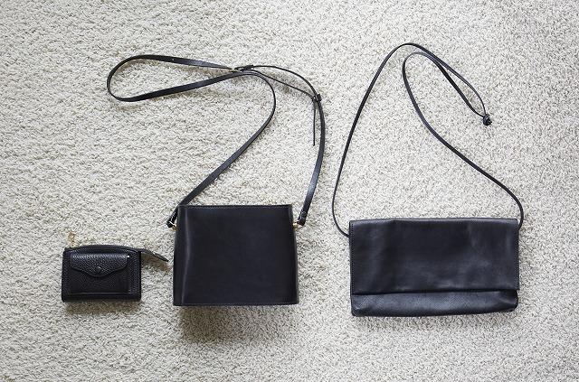 黑の小さいバッグ