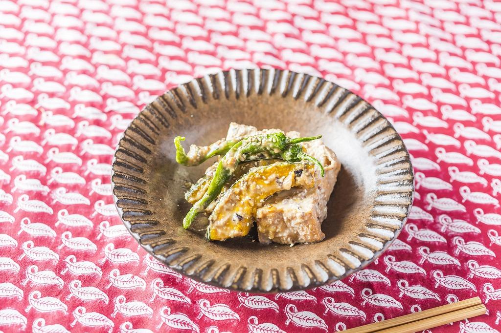 厚揚げとカボチャの味噌マリネ