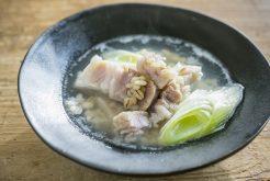 塩豚ともち麦のスープ