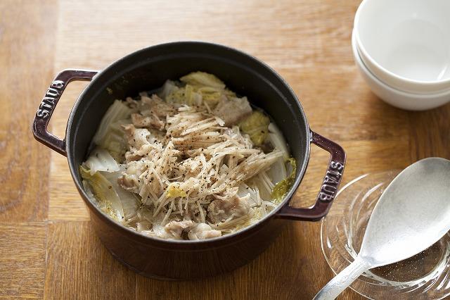 豚と白菜の香りショウガ蒸し