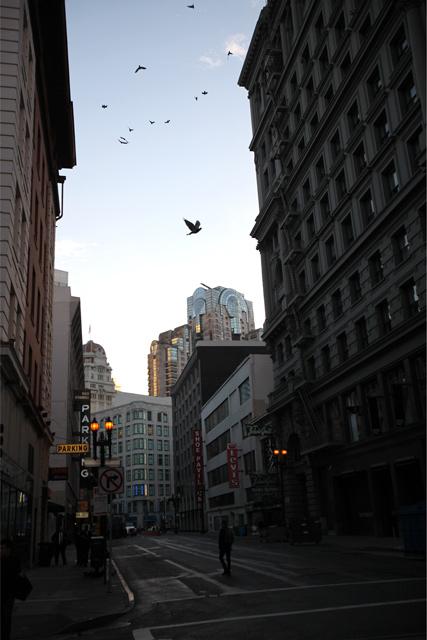 ダウンタウンの空とビル街
