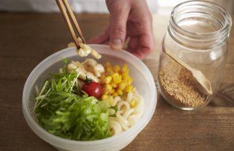 平日ランチは野菜たっぷりお手軽弁当